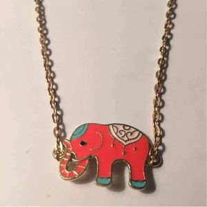 2 Preppy Elephant Necklaces
